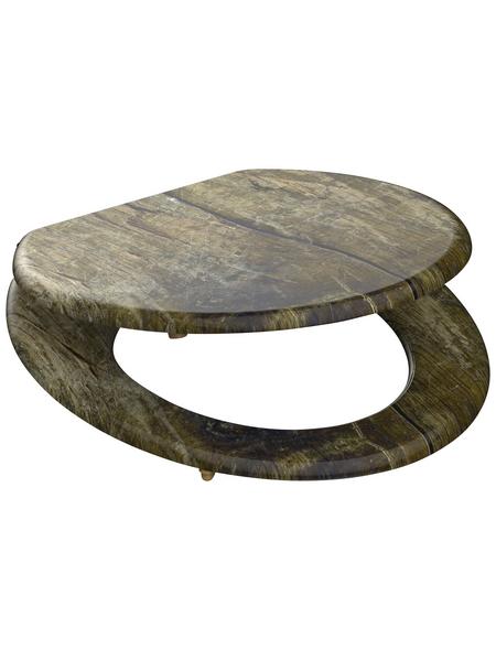 SCHÜTTE WC-Sitz mit Holzkern,  oval
