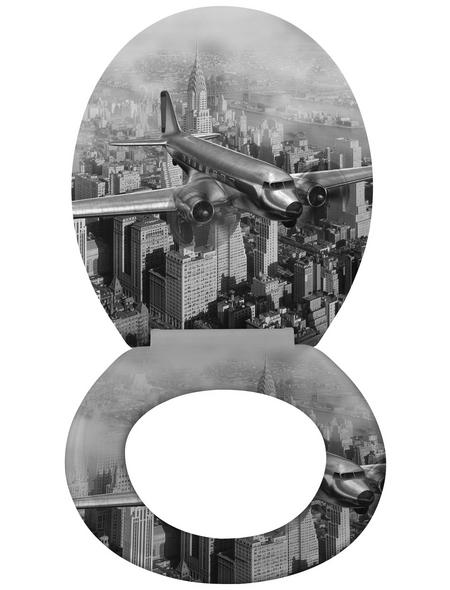WENKO WC-Sitz »Old-Time« aus Duroplast,  oval mit Softclose-Funktion