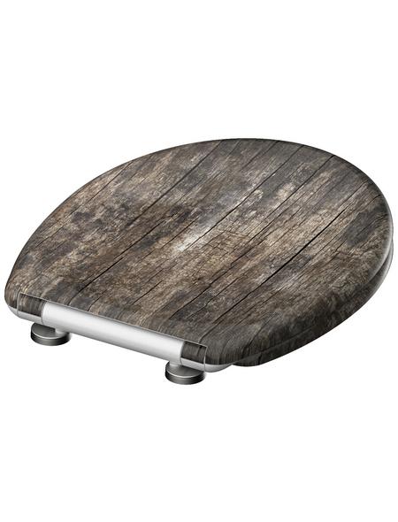 SCHÜTTE WC-Sitz »Old Wood« aus Duroplast,  oval mit Softclose-Funktion