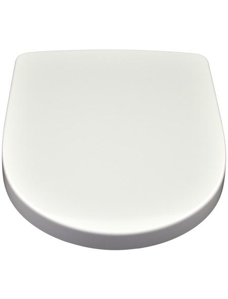VILLEROY & BOCH WC-Sitz »O.NOVO«, Duroplast,  weiß,  D-Form