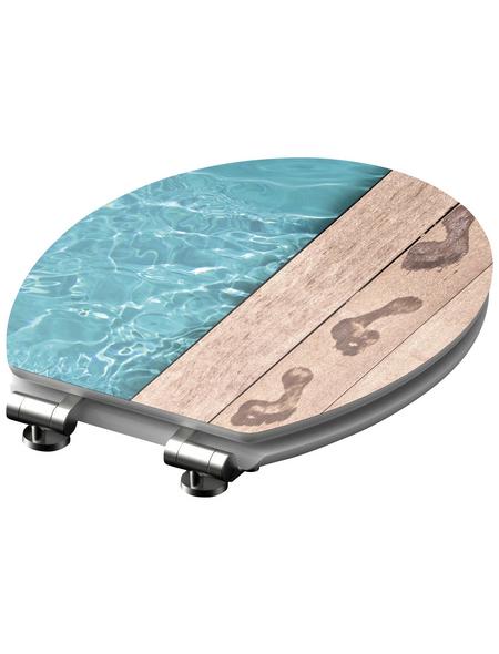SCHÜTTE WC-Sitz »Poolside« mit Holzkern,  oval mit Softclose-Funktion