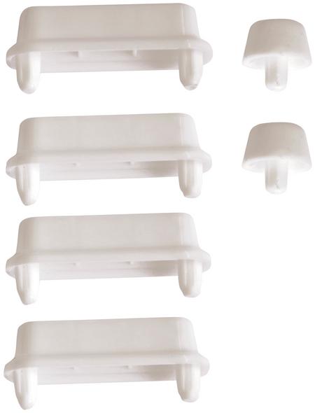 SANITOP-WINGENROTH WC-Sitz-Puffer, Kunststoff, weiß