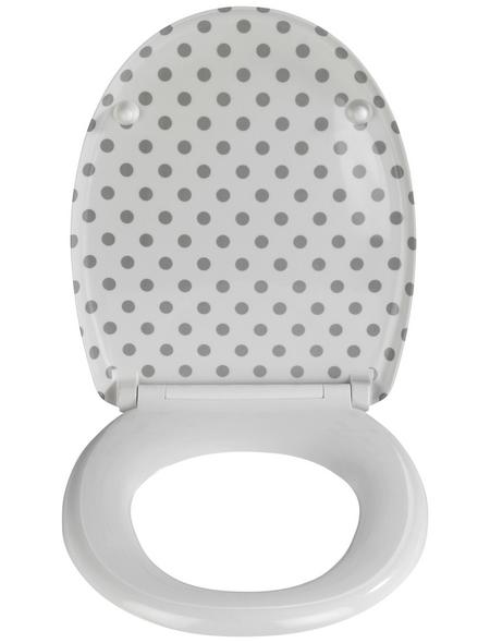 WENKO WC-Sitz »Punto« aus Duroplast,  oval mit Softclose-Funktion