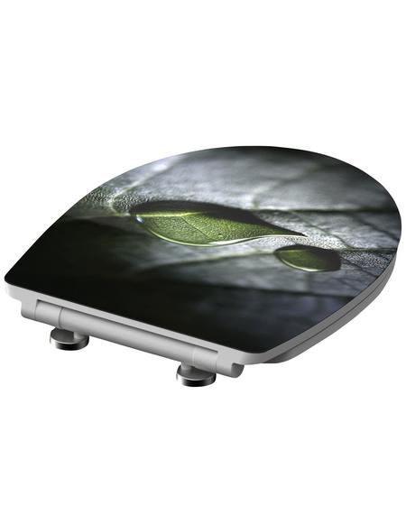 SCHÜTTE WC-Sitz »Raindrop« aus Duroplast,  oval mit Softclose-Funktion