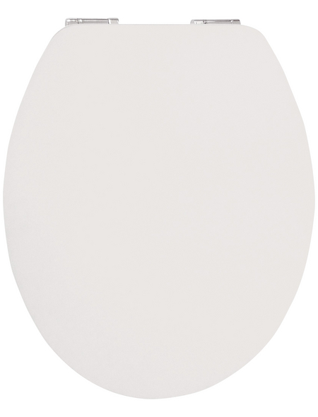 SANITOP-WINGENROTH WC-Sitz »Real White High Gloss«, mit Holzkern, oval, mit Softclose-Funktion