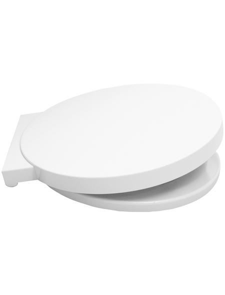 SANITOP-WINGENROTH WC-Sitz »Reflex«, Duroplast, oval, mit Softclose-Funktion
