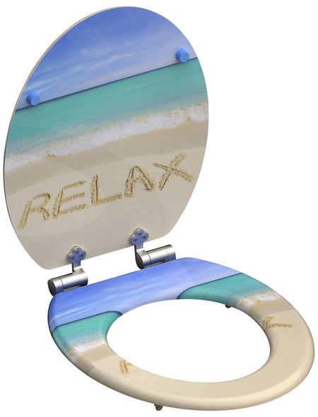 SCHÜTTE WC-Sitz »Relax« mit Holzkern,  oval