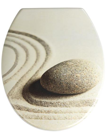 WENKO WC-Sitz »Sabbia« aus Duroplast,  oval mit Softclose-Funktion