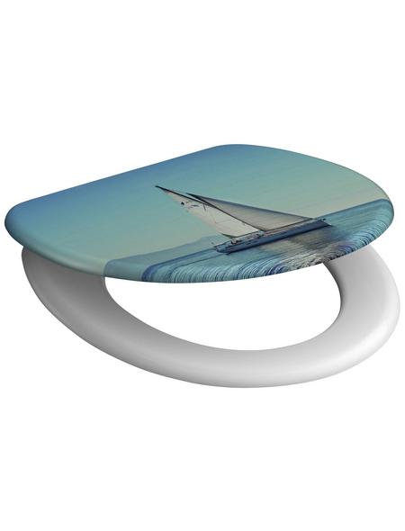 SCHÜTTE WC-Sitz »Sailing« Duroplast,  oval mit Softclose-Funktion