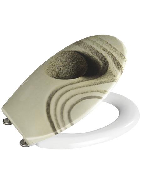 WENKO WC-Sitz »Sand and Stone« aus Duroplast,  oval
