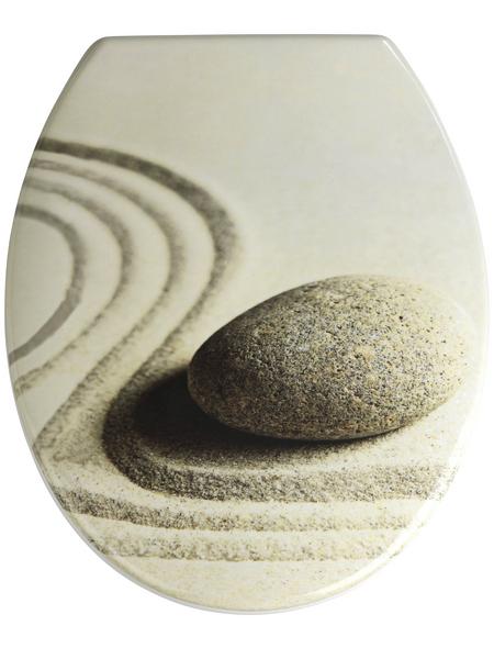WENKO WC-Sitz »Sand and Stone«, Duroplast, oval