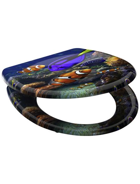 SCHÜTTE WC-Sitz »Sea Life« aus Duroplast,  oval mit Softclose-Funktion