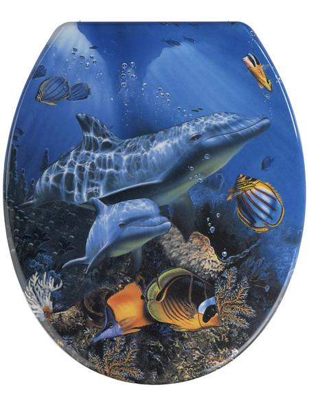 WENKO WC-Sitz »Sea Life«, Duroplast, oval