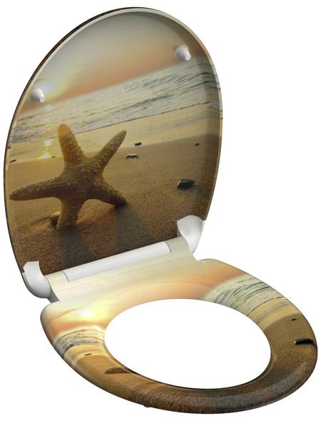 SCHÜTTE WC-Sitz »Sea Star« aus Duroplast,  oval
