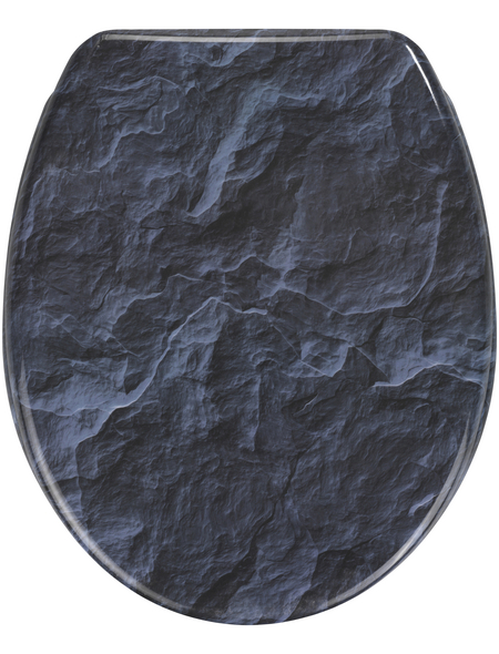WENKO WC-Sitz »Slate Rock«, Duroplast, oval, mit Softclose-Funktion