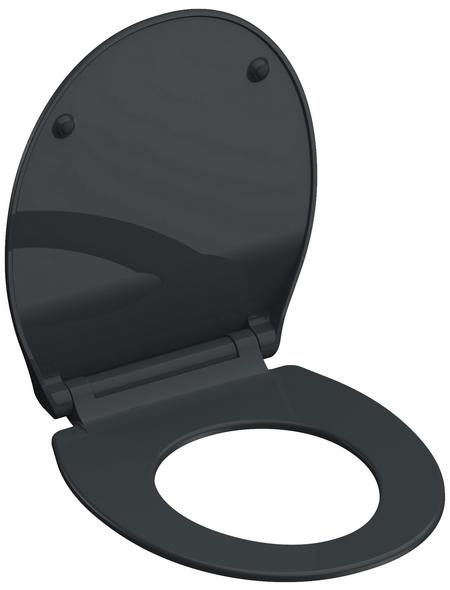 SCHÜTTE WC-Sitz »Slim Anthrazit« aus Duroplast,  oval mit Softclose-Funktion