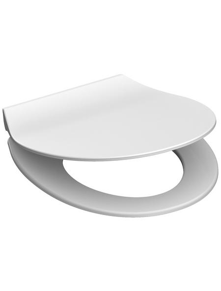 SCHÜTTE WC-Sitz »Slim White« aus Duroplast,  oval mit Softclose-Funktion