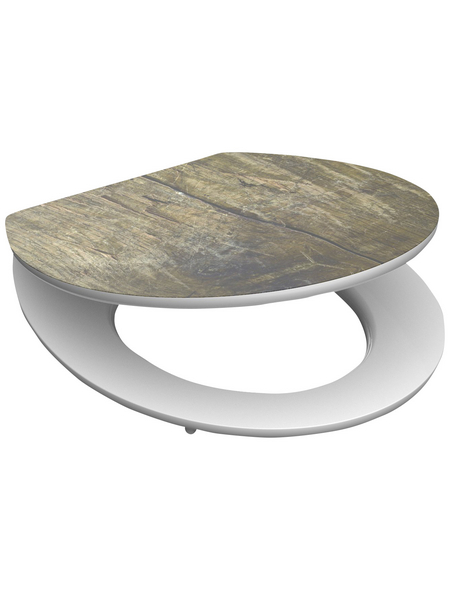 SCHÜTTE WC-Sitz »Solid Wood« mit Holzkern,  oval mit Softclose-Funktion