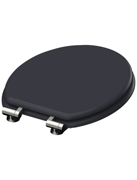 SCHÜTTE WC-Sitz »Spirit Anthrazit« mit Holzkern,  oval mit Softclose-Funktion