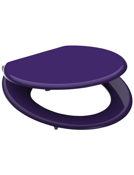 SCHÜTTE WC-Sitz »Spirit Violett«, Mitteldichte Faserplatte (MDF),  violett,  oval