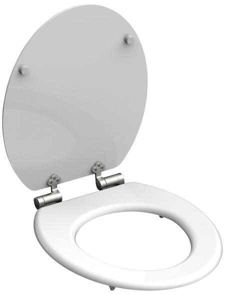 SCHÜTTE WC-Sitz »Spirit White« mit Holzkern,  oval mit Softclose-Funktion