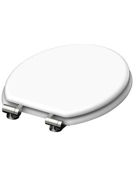 SCHÜTTE WC-Sitz »Spirit White«, Mitteldichte Faserplatte (MDF),  weiß,  oval