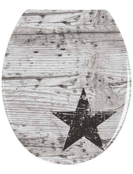 WENKO WC-Sitz »Star«, Duroplast, oval