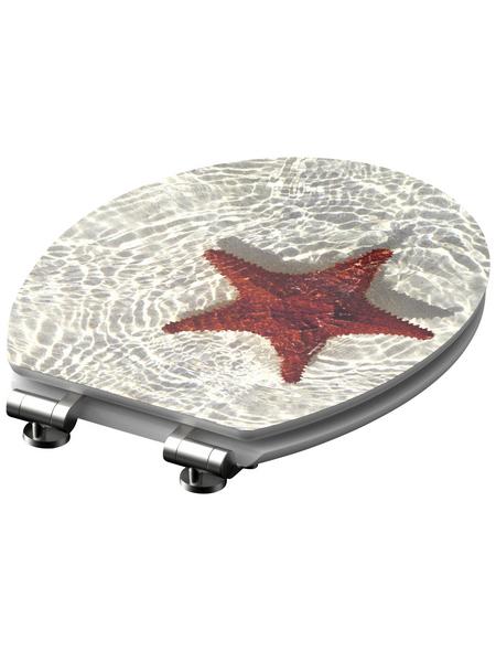 SCHÜTTE WC-Sitz »Starfish« mit Holzkern,  oval
