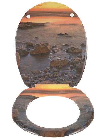 WENKO WC-Sitz »Stone Shore«, natur|steine