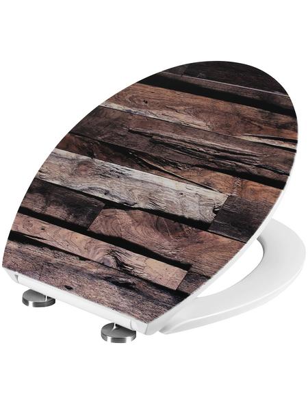 CORNAT WC-Sitz »STRUKTUR«, Duroplast, oval mit Softclose-Funktion