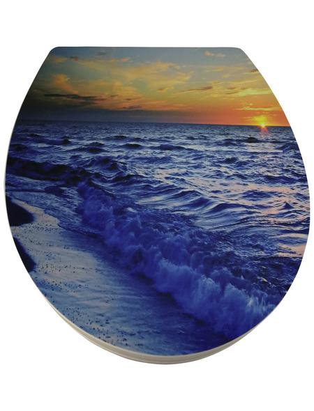 WELLWATER WC-Sitz »Sunset« aus Duroplast,  oval mit Softclose-Funktion