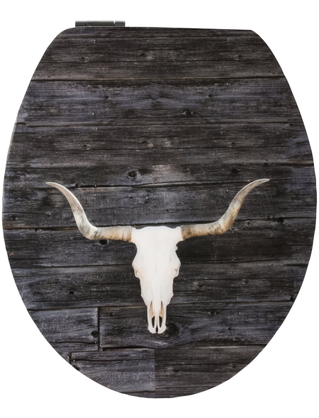 SANITOP-WINGENROTH WC-Sitz »Texas Longhorn High Gloss«, mit Holzkern, oval, mit Softclose-Funktion