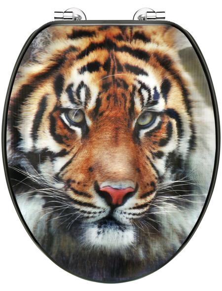 CORNAT WC-Sitz »TIGER«, MDF, D-Form