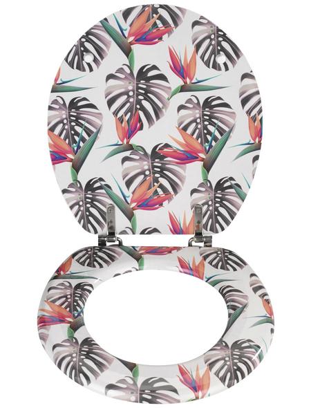 WENKO WC-Sitz »Tropical«, schriftzug blaetter