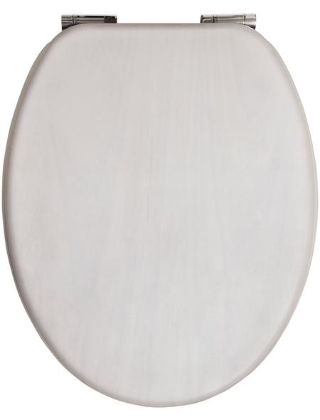 SANITOP-WINGENROTH WC-Sitz »Venezia«, Echtholz, oval, mit Softclose-Funktion
