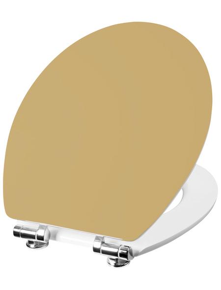 CORNAT WC-Sitz »VOREA«, Holzkern, D-Form mit Softclose-Funktion