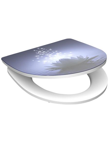 SCHÜTTE WC-Sitz »Water Lilly«, Duroplast,  weiss/blau,  oval