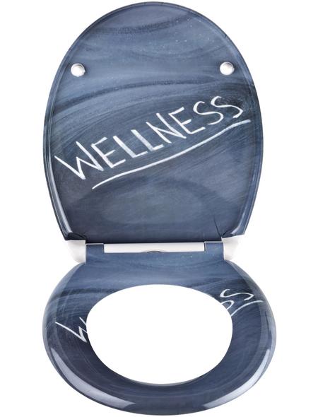 SCHÜTTE WC-Sitz »Wellness« aus Duroplast,  oval mit Softclose-Funktion