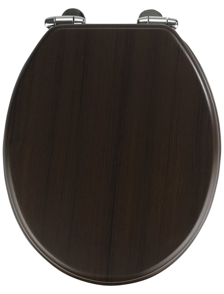 WENKO WC-Sitz »Wengé«, MDF, oval, mit Softclose-Funktion