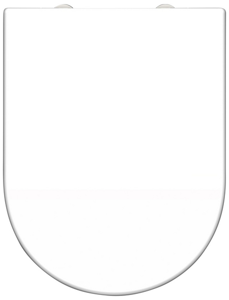 SCHÜTTE WC-Sitz »White«, Duroplast,  weiß,  D-Form