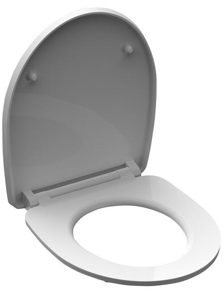 SCHÜTTE WC-Sitz »White Wave« aus Duroplast,  oval mit Softclose-Funktion