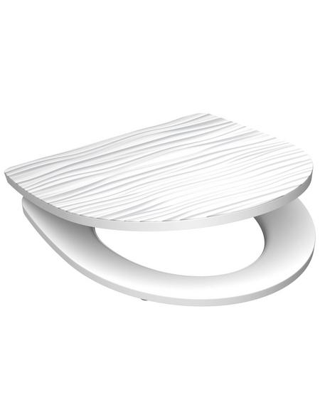 SCHÜTTE WC-Sitz »White Wave« Duroplast,  oval mit Softclose-Funktion