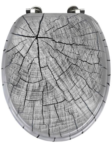 WENKO WC-Sitz »Wood«, MDF, oval