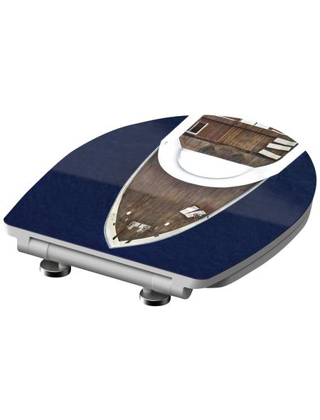 SCHÜTTE WC-Sitz »Yachting«, Duroplast,  weiss/braun/blau,  oval