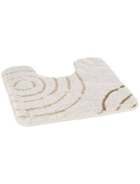 KLEINE WOLKE WC-Vorleger »Splash«, beige, BxL: 50cm x 50cm