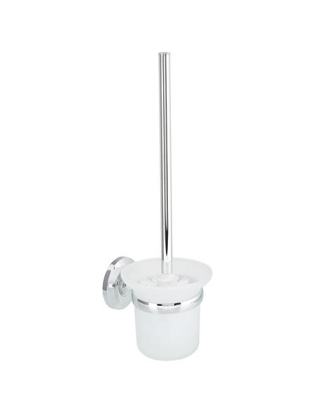 WELLWATER WC-Wandgarnitur »Verona«, Glas/Metall, chromfarben/transparent