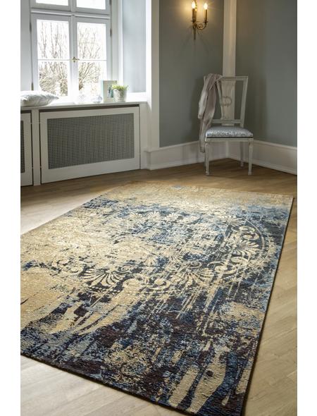 Web-Teppich, BxL: 80 x 150 cm, blau/beige
