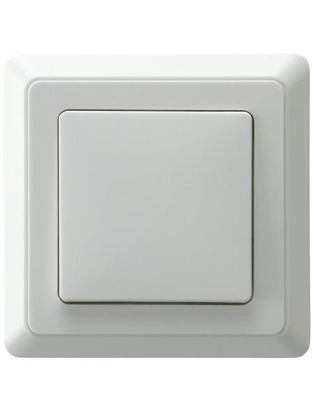 GO/ON! Wechselschalter mit Rahmen, PrimaLuxe, Kunststoff, Weiß