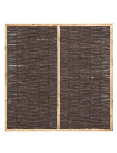 MR. GARDENER Weidenzaun, HxL: 140 x 120 cm, braun