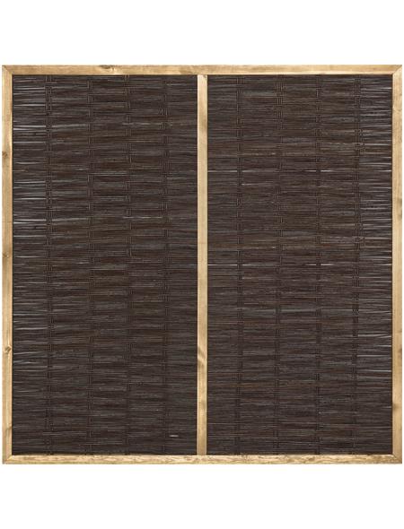 MR. GARDENER Weidenzaun, HxL: 180 x 180 cm, braun